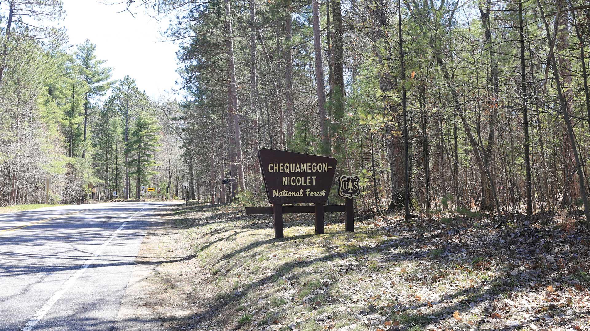 Chequamegon-Nicolet National Forest entrance