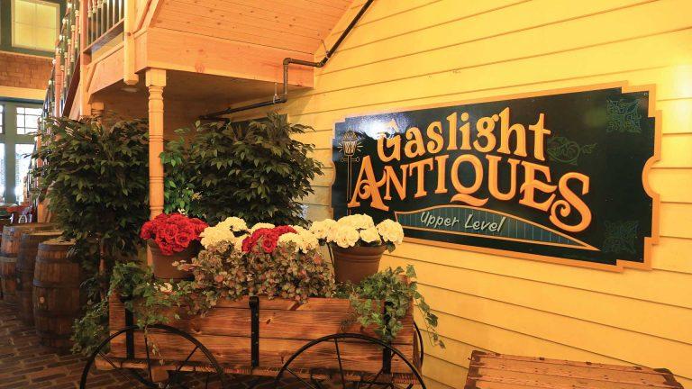 Gaslight Antiques sign