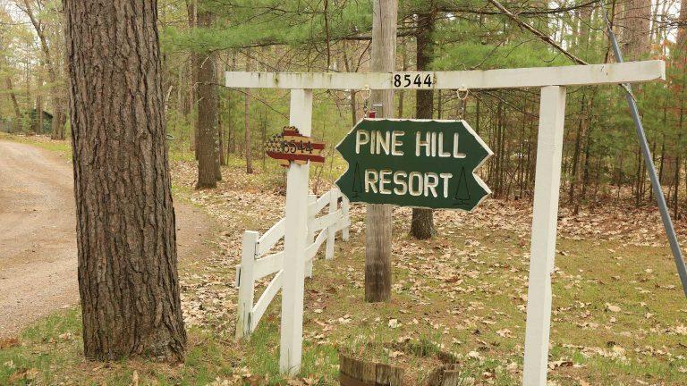 Pine Hill Resort sign