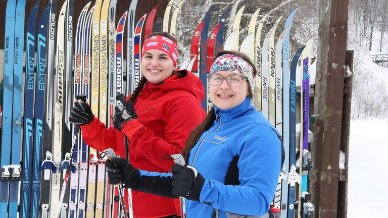 Cross-country skiing at Minocqua Winter Park Oneida County WI