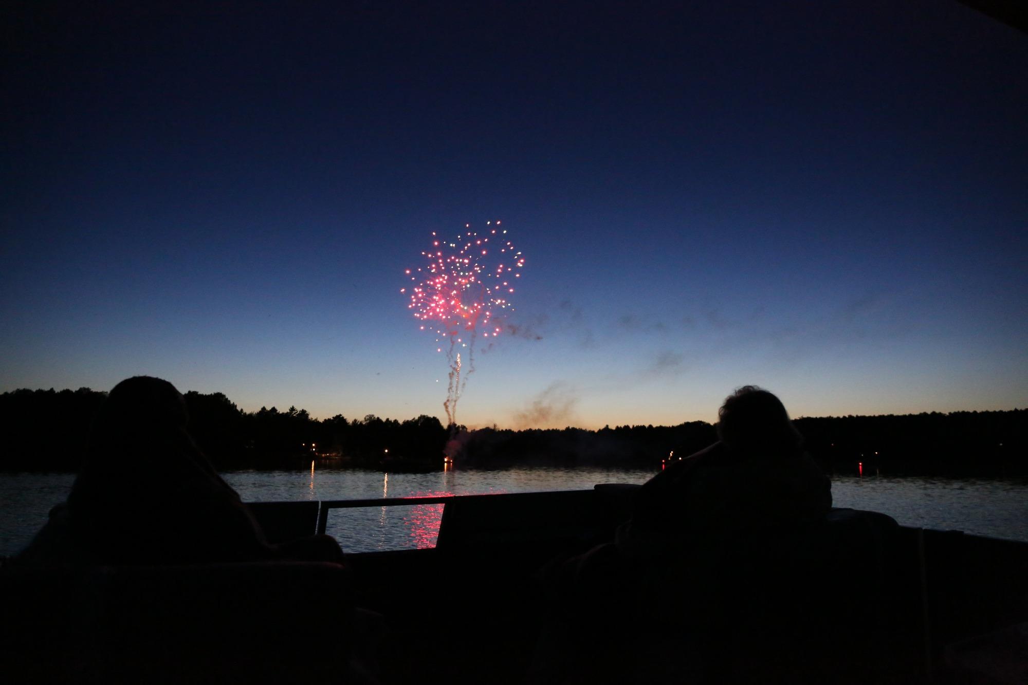 fireworks over lake oneida county wi