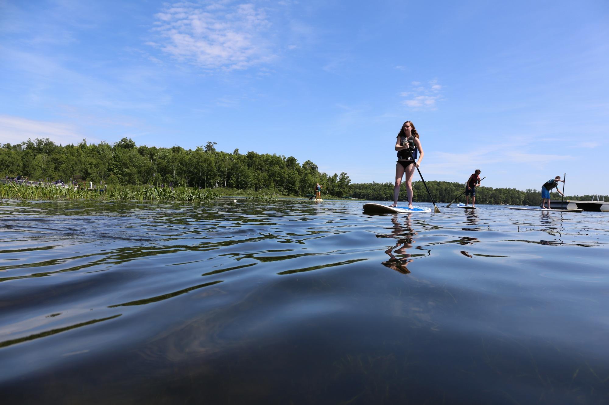 paddleboarding oneida county wi