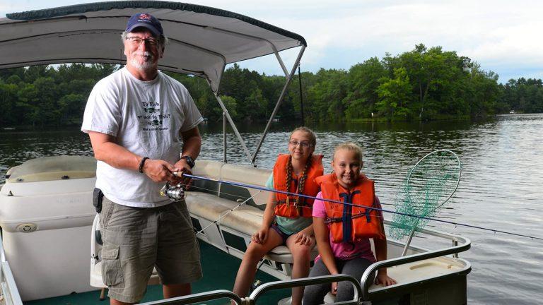 Fishing at Brekke's Resort Rhinelander Wisconsin