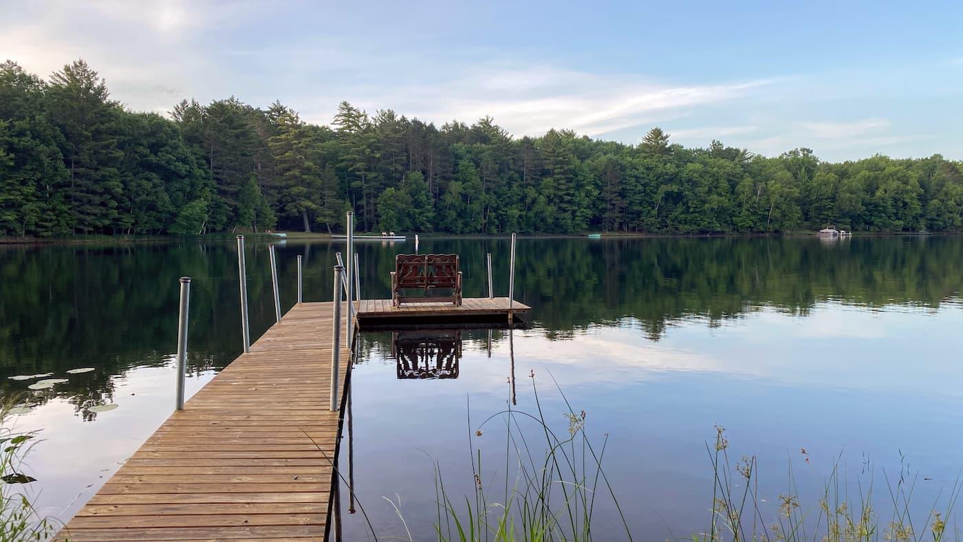 Lakeside view in Hazelhurst Oneida County Wisconsin